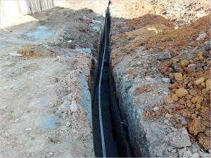 проведение водопровода в частный дом в Тюмени в траншее